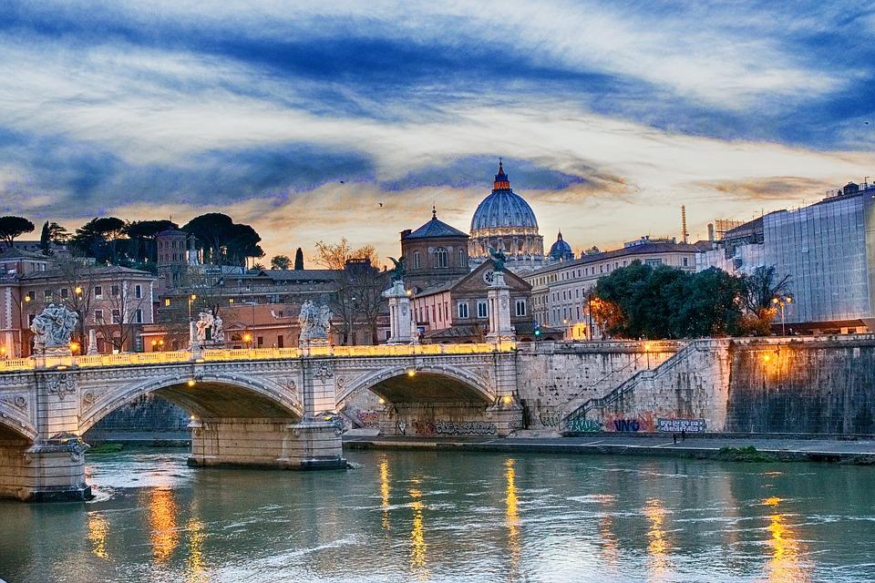Il volantinaggio nella capitale a Roma